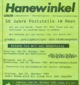 100 Jahre Hanewinkel, Foto Archiv J. Grabbe