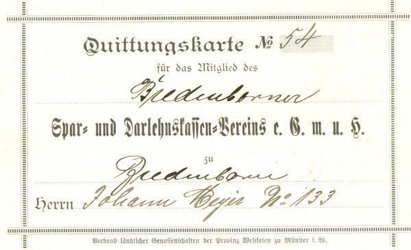 1903: Spar- und Dahrlehnskassen-Verein