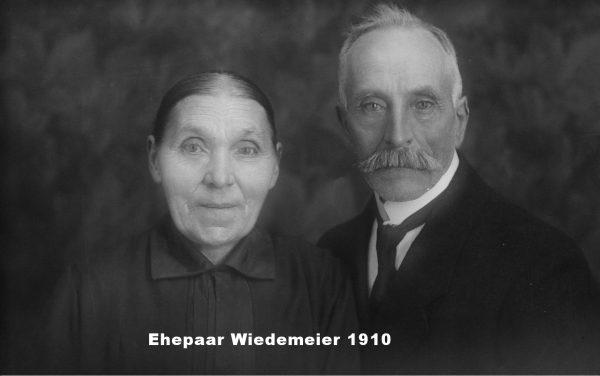 1910: Ehepaar Wiedemeier