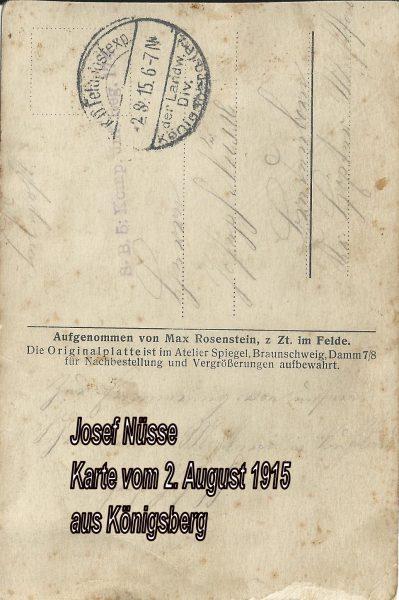 1916: Feldpost